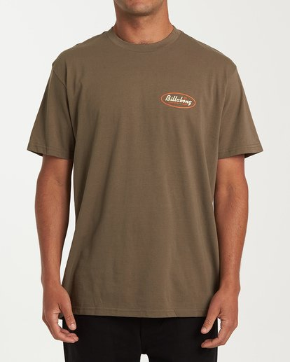 0 Falcon Short Sleeve T-Shirt Green M404WBFA Billabong