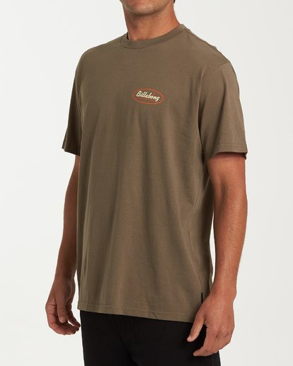 1 Falcon Short Sleeve T-Shirt Green M404WBFA Billabong