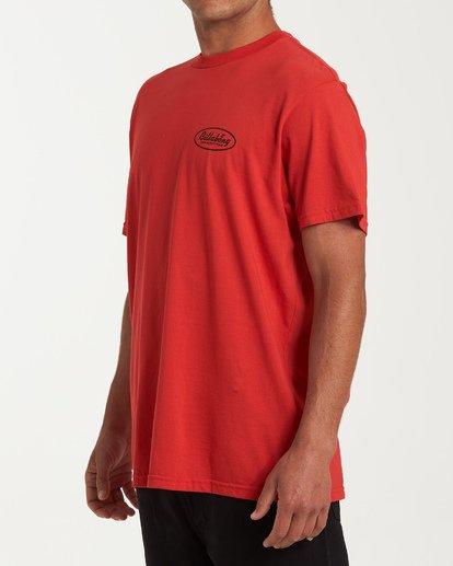 1 Falcon Short Sleeve T-Shirt Red M404WBFA Billabong
