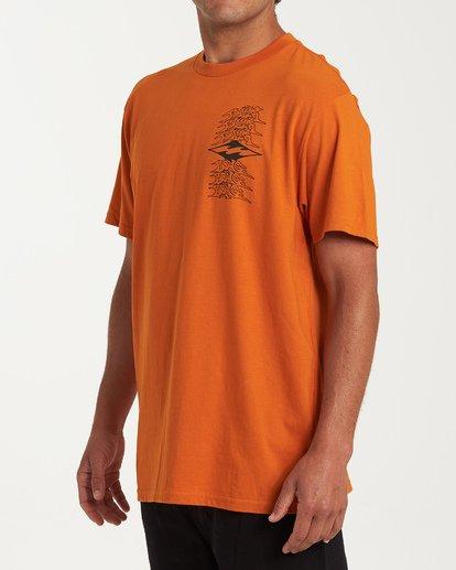 1 Filthy Short Sleeve T-Shirt Red M404WBFI Billabong