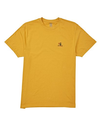 3 Fauna Short Sleeve T-Shirt Yellow M404WBFU Billabong