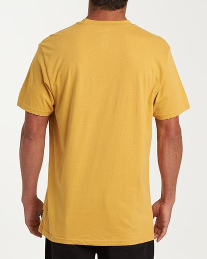 2 Fauna Short Sleeve T-Shirt Yellow M404WBFU Billabong
