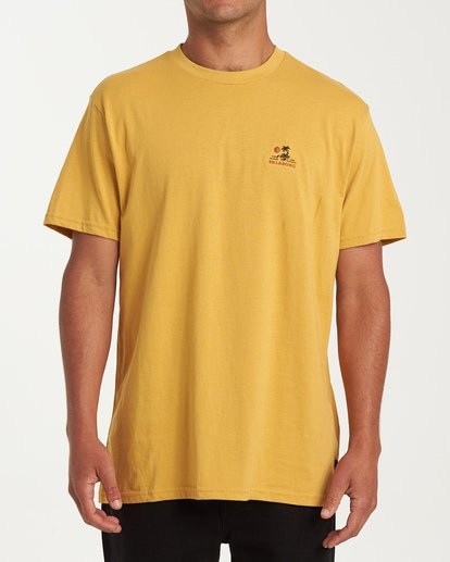 0 Fauna Short Sleeve T-Shirt Yellow M404WBFU Billabong