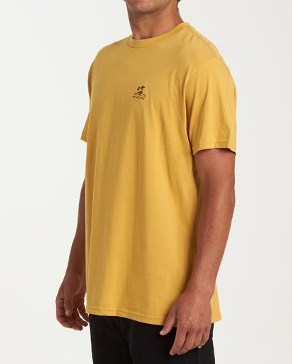 1 Fauna Short Sleeve T-Shirt Yellow M404WBFU Billabong
