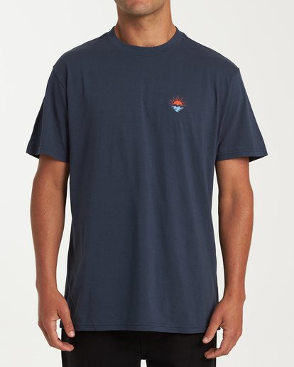 0 Fauna Short Sleeve T-Shirt Blue M404WBFU Billabong