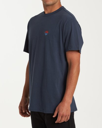 1 Fauna Short Sleeve T-Shirt Blue M404WBFU Billabong