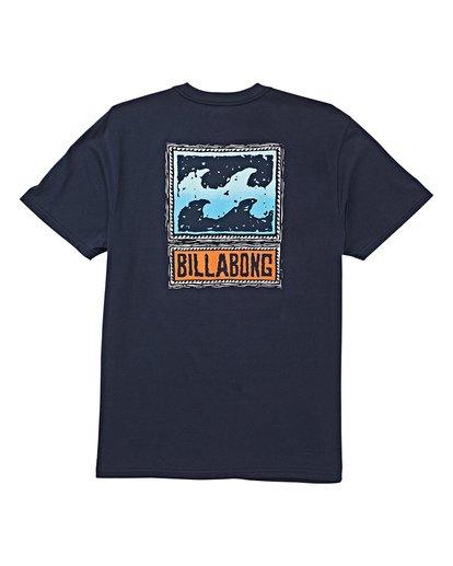 4 Fifty Wave Short Sleeve T-Shirt Blue M404WBFW Billabong