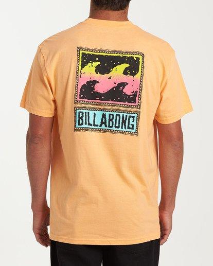 2 Fifty Wave Short Sleeve T-Shirt Grey M404WBFW Billabong