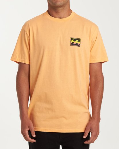 0 Fifty Wave Short Sleeve T-Shirt Grey M404WBFW Billabong
