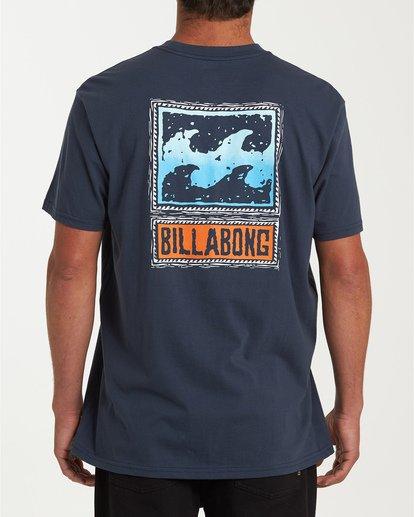 2 Fifty Wave Short Sleeve T-Shirt Blue M404WBFW Billabong