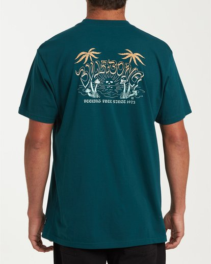 2 Grateful Short Sleeve T-Shirt Green M404WBGR Billabong