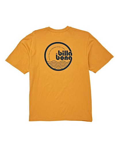 4 Lagoon Short Sleeve T-Shirt Yellow M404WBLG Billabong
