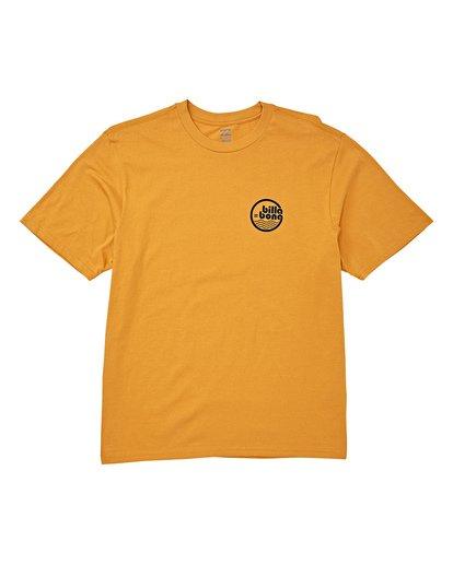 3 Lagoon Short Sleeve T-Shirt Yellow M404WBLG Billabong