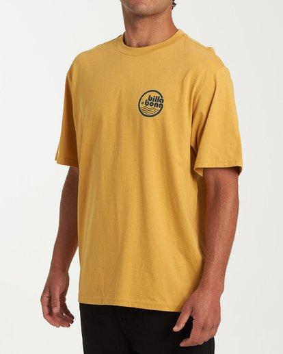 1 Lagoon Short Sleeve T-Shirt Yellow M404WBLG Billabong