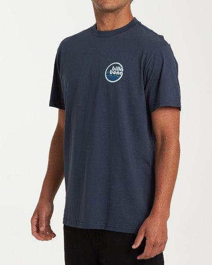1 Lagoon Short Sleeve T-Shirt Blue M404WBLG Billabong
