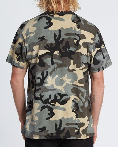 2 Pipe Camo Short Sleeve T-Shirt Black M404WBPC Billabong