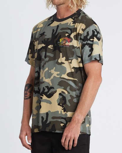 1 Pipe Camo Short Sleeve T-Shirt Black M404WBPC Billabong