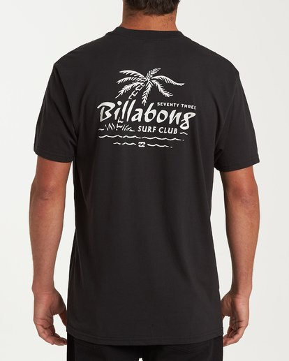 2 Club Short Sleeve T-Shirt Black M404WBPH Billabong