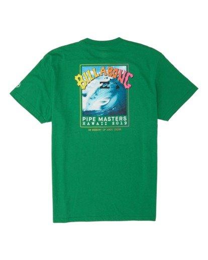 4 Pipe Masters Short Sleeve T-Shirt Green M404WBPM Billabong