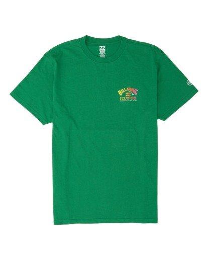 3 Pipe Masters Short Sleeve T-Shirt Green M404WBPM Billabong