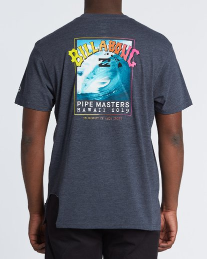 2 Pipe Masters Short Sleeve T-Shirt Blue M404WBPM Billabong