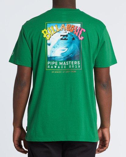 2 Pipe Masters Short Sleeve T-Shirt Green M404WBPM Billabong
