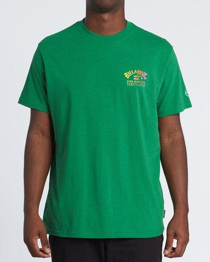 0 Pipe Masters Short Sleeve T-Shirt Green M404WBPM Billabong