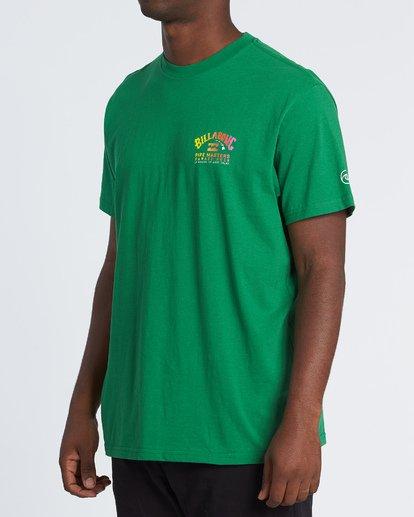 1 Pipe Masters Short Sleeve T-Shirt Green M404WBPM Billabong