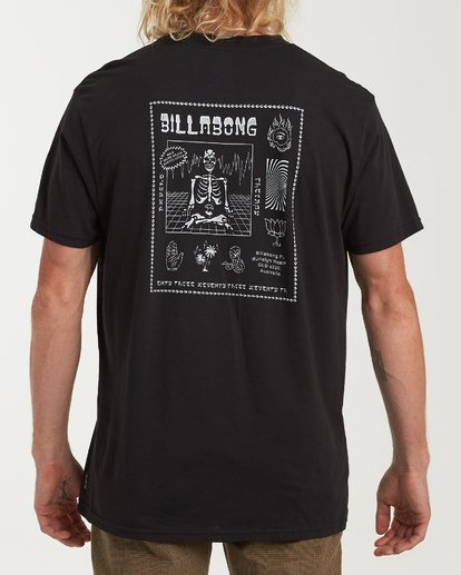 2 Psycho Therapy Short Sleeve T-Shirt Black M404WBPS Billabong