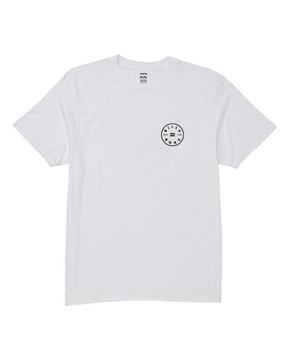 4 Rotor Short Sleeve T-Shirt White M404WBRO Billabong