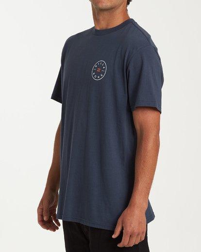 1 Rotor Short Sleeve T-Shirt Blue M404WBRO Billabong