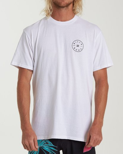 3 Rotor Short Sleeve T-Shirt White M404WBRO Billabong