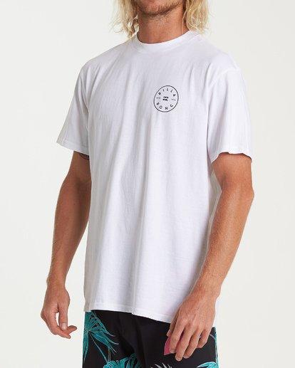 1 Rotor Short Sleeve T-Shirt White M404WBRO Billabong
