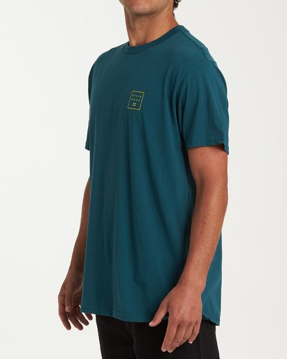 1 Stacked Short Sleeve T-Shirt Green M404WBSD Billabong