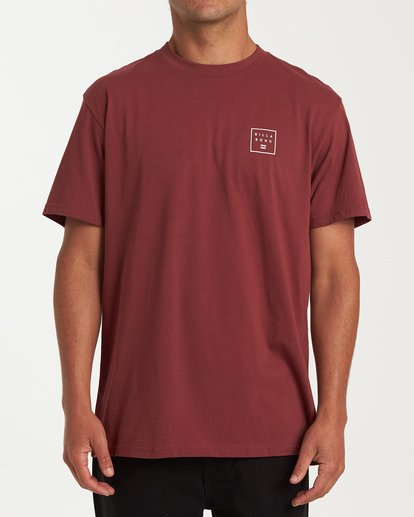 0 Stacked Short Sleeve T-Shirt Red M404WBSD Billabong
