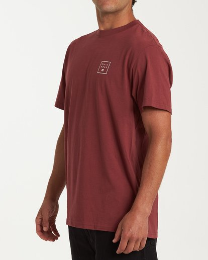 1 Stacked Short Sleeve T-Shirt Red M404WBSD Billabong