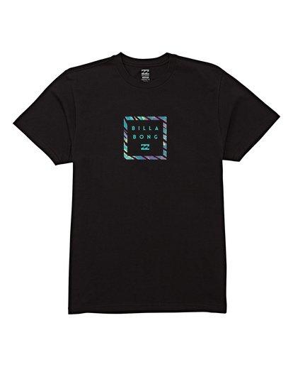 3 Stacker Short Sleeve T-Shirt Black M404WBSR Billabong