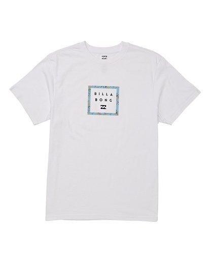 3 Stacker Short Sleeve T-Shirt White M404WBSR Billabong