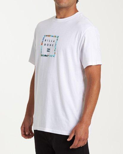 1 Stacker Short Sleeve T-Shirt White M404WBSR Billabong
