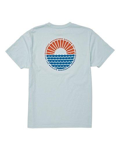 4 Sundown Short Sleeve T-Shirt Blue M404WBSU Billabong