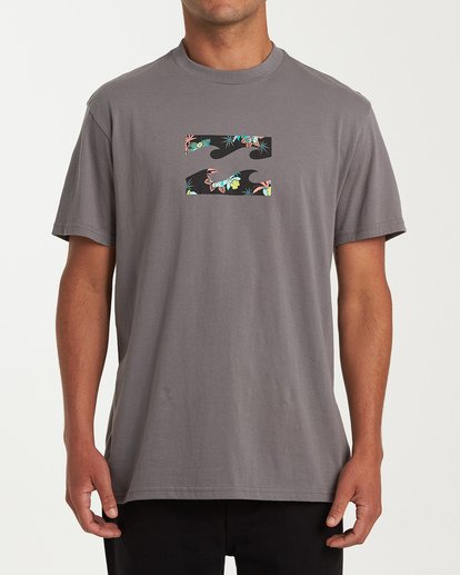 0 Team Wave Short Sleeve T-Shirt Grey M404WBTW Billabong