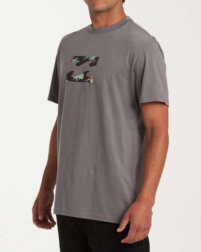 1 Team Wave Short Sleeve T-Shirt Grey M404WBTW Billabong