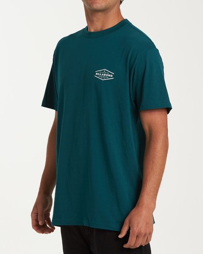 1 Vista Short Sleeve T-Shirt Green M404WBVI Billabong