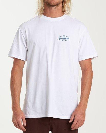 0 Vista Short Sleeve T-Shirt White M404WBVI Billabong