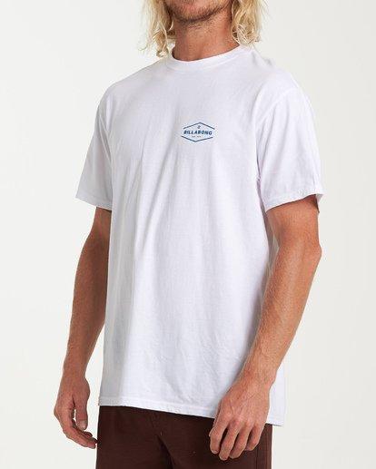 1 Vista Short Sleeve T-Shirt White M404WBVI Billabong