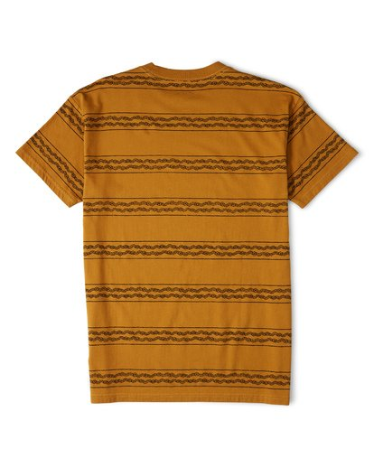 4 Tucker Stripe T-Shirt Yellow M404WBVR Billabong