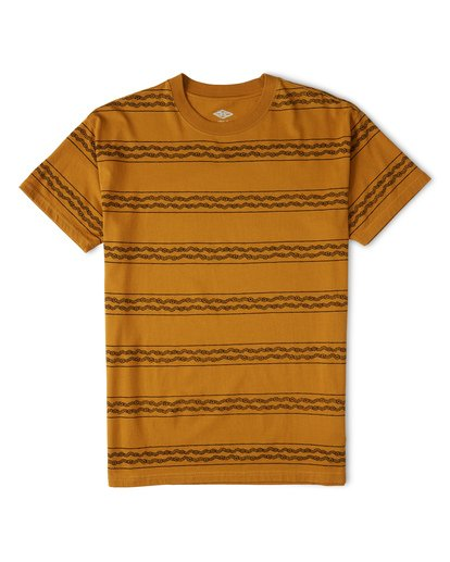 3 Tucker Stripe T-Shirt Yellow M404WBVR Billabong