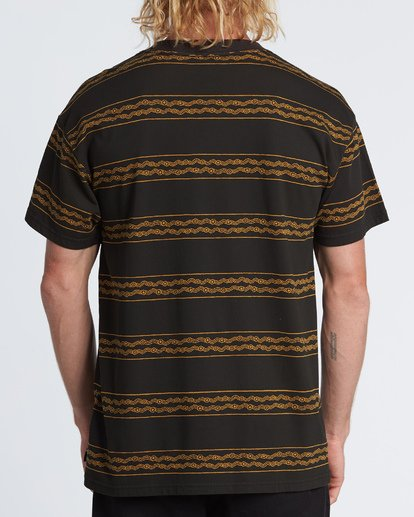 2 Tucker Stripe T-Shirt Black M404WBVR Billabong