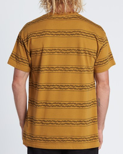 2 Tucker Stripe T-Shirt Yellow M404WBVR Billabong