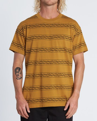 0 Tucker Stripe T-Shirt Yellow M404WBVR Billabong